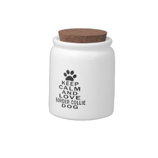 Keep Calm And Love Border Collie Dog Candy Dishes