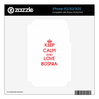Keep Calm and Love Bosnia Skins For The iPhone 3GS