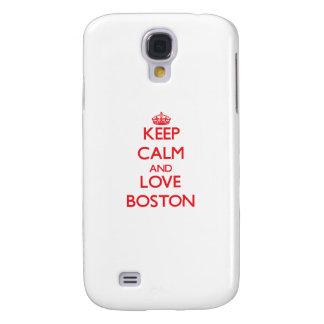 Keep Calm and Love Boston Galaxy S4 Case
