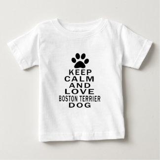 Keep Calm And Love Boston Terrier Dog Tshirts