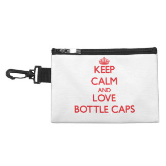 Keep calm and love Bottle Caps Accessories Bags