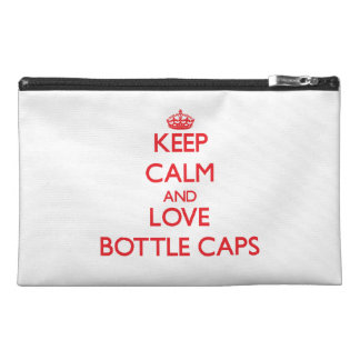 Keep calm and love Bottle Caps Travel Accessory Bag