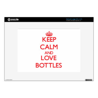 Keep calm and love Bottles Skin For Netbook