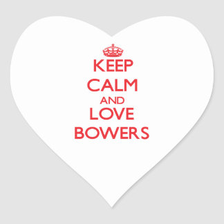 Keep calm and love Bowers Heart Sticker