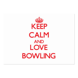 Keep calm and love Bowling Business Card Templates