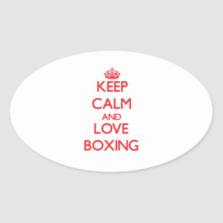Keep calm and love Boxing Stickers