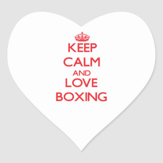 Keep calm and love Boxing Sticker