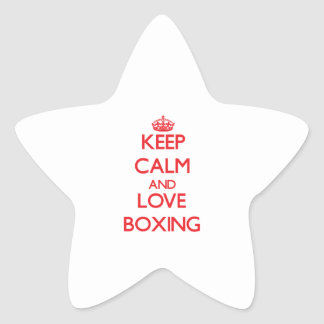Keep calm and love Boxing Star Stickers