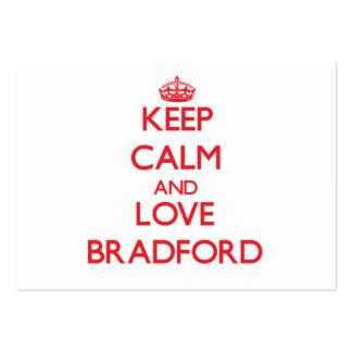 Keep calm and love Bradford Business Card Template