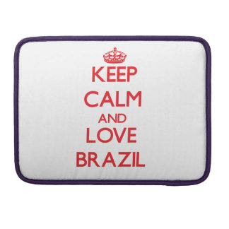 Keep Calm and Love Brazil MacBook Pro Sleeve
