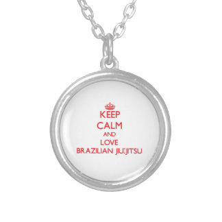 Keep calm and love Brazilian Jiu-Jitsu Round Pendant Necklace