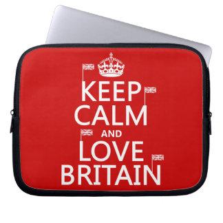 Keep Calm and Love Britain Computer Sleeve