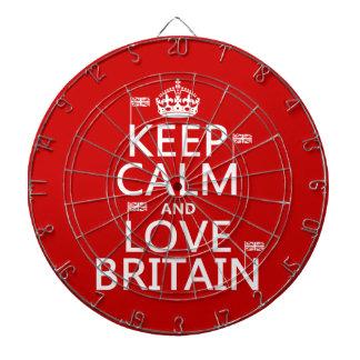 Keep Calm and Love Britain Dartboard