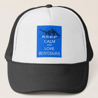 Keep Calm and Love Brontosaurus dinosaur design Trucker Hat