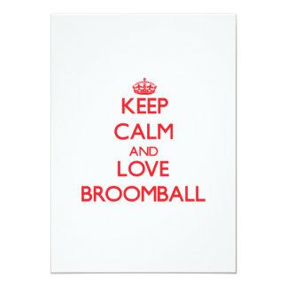 Keep calm and love Broomball Card