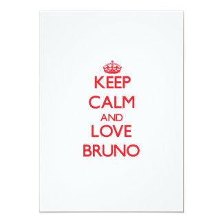 Keep Calm and Love Bruno 5x7 Paper Invitation Card