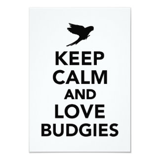 Keep calm and love budgies announcement