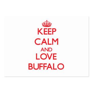 Keep Calm and Love Buffalo Business Card Template