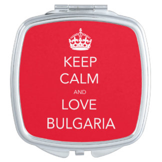 Keep Calm and Love Bulgaria Compact Mirror