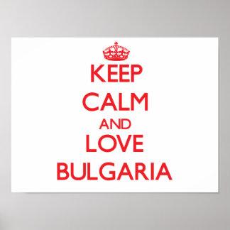 Keep Calm and Love Bulgaria Print