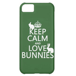 Keep Calm and Love Bunnies - all colors iPhone 5C Case