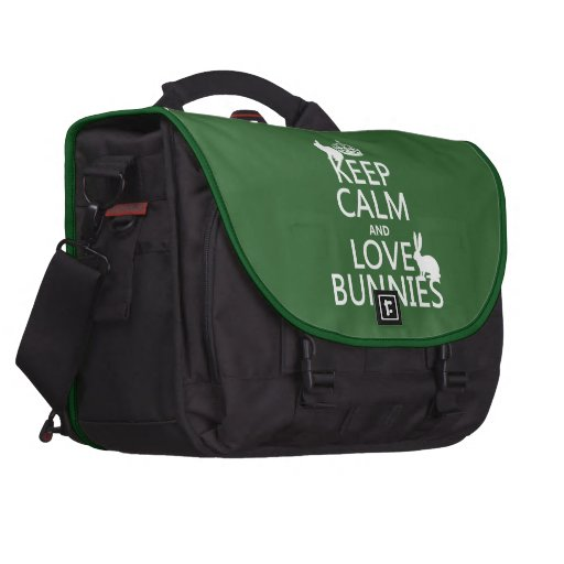 Keep Calm and Love Bunnies - all colors Commuter Bag