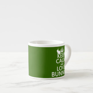 Keep Calm and Love Bunnies - all colors Espresso Cup