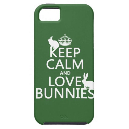 Keep Calm and Love Bunnies - all colors iPhone SE/5/5s Case