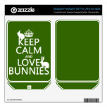 Keep Calm and Love Bunnies - all colors FreeAgent GoFlex Decals