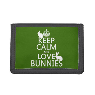 Keep Calm and Love Bunnies - all colors Wallets