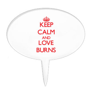 Keep calm and love Burns Cake Topper
