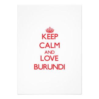 Keep Calm and Love Burundi Announcement