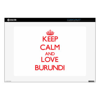 Keep Calm and Love Burundi Decal For Laptop