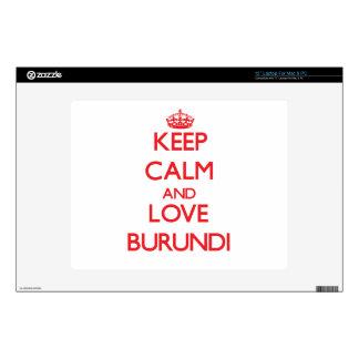 Keep Calm and Love Burundi Laptop Skin