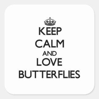 Keep calm and Love Butterflies Sticker