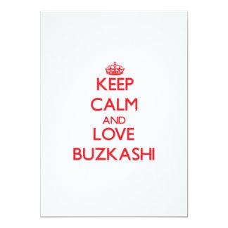 "Keep calm and love Buzkashi 5"" X 7"" Invitation Card"