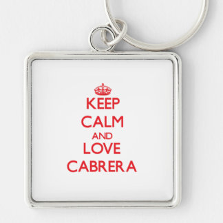 Keep calm and love Cabrera Key Chain