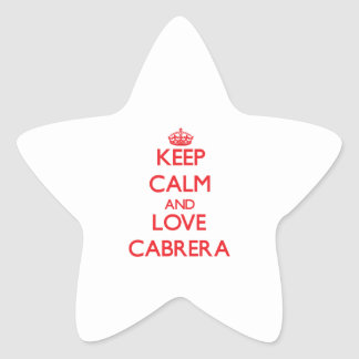 Keep calm and love Cabrera Stickers