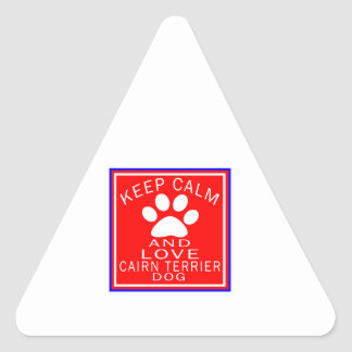 Keep Calm And Love Cairn Terrier Triangle Sticker