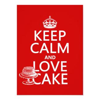 Keep Calm and Love Cake Card