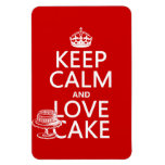 Keep Calm and Love Cake (customize colors) Magnets