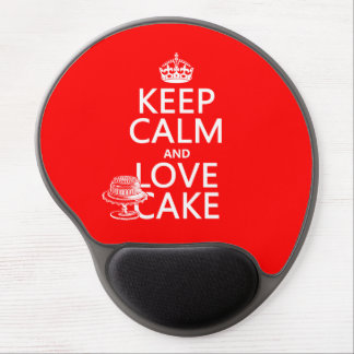 Keep Calm and Love Cake Gel Mouse Pad
