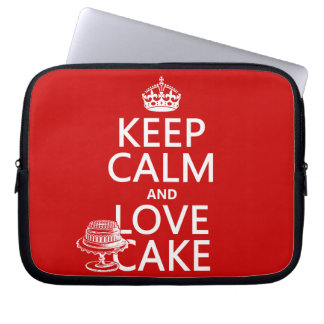 Keep Calm and Love Cake Laptop Sleeve