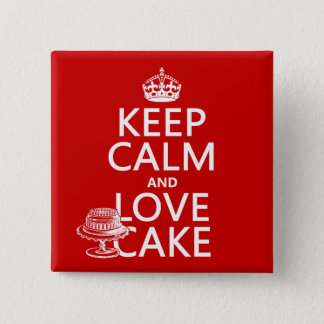 Keep Calm and Love Cake Pinback Button