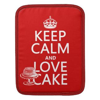 Keep Calm and Love Cake Sleeve For iPads