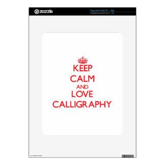 Keep calm and love Calligraphy iPad Skin