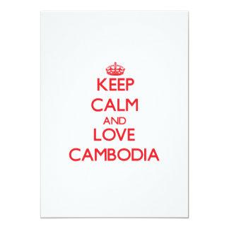 Keep Calm and Love Cambodia 5x7 Paper Invitation Card