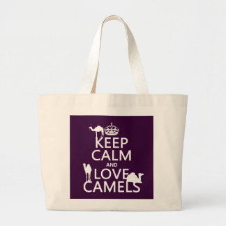 Keep Calm and Love Camels all colors Tote Bag