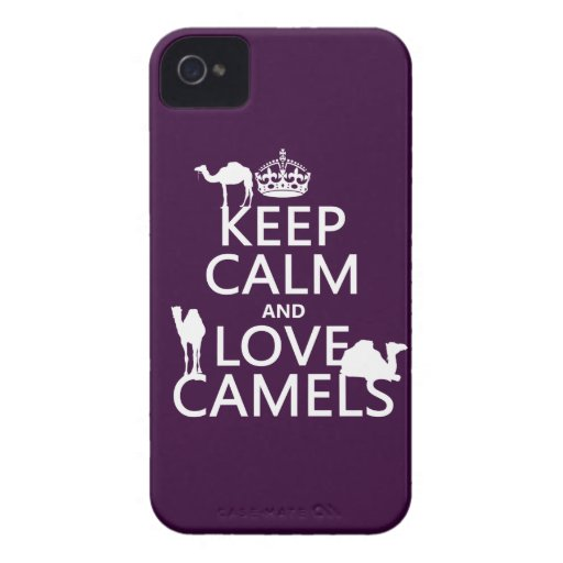 Keep Calm and Love Camels (all colors) iPhone 4 Cover