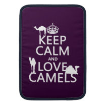 Keep Calm and Love Camels (all colors) MacBook Air Sleeve